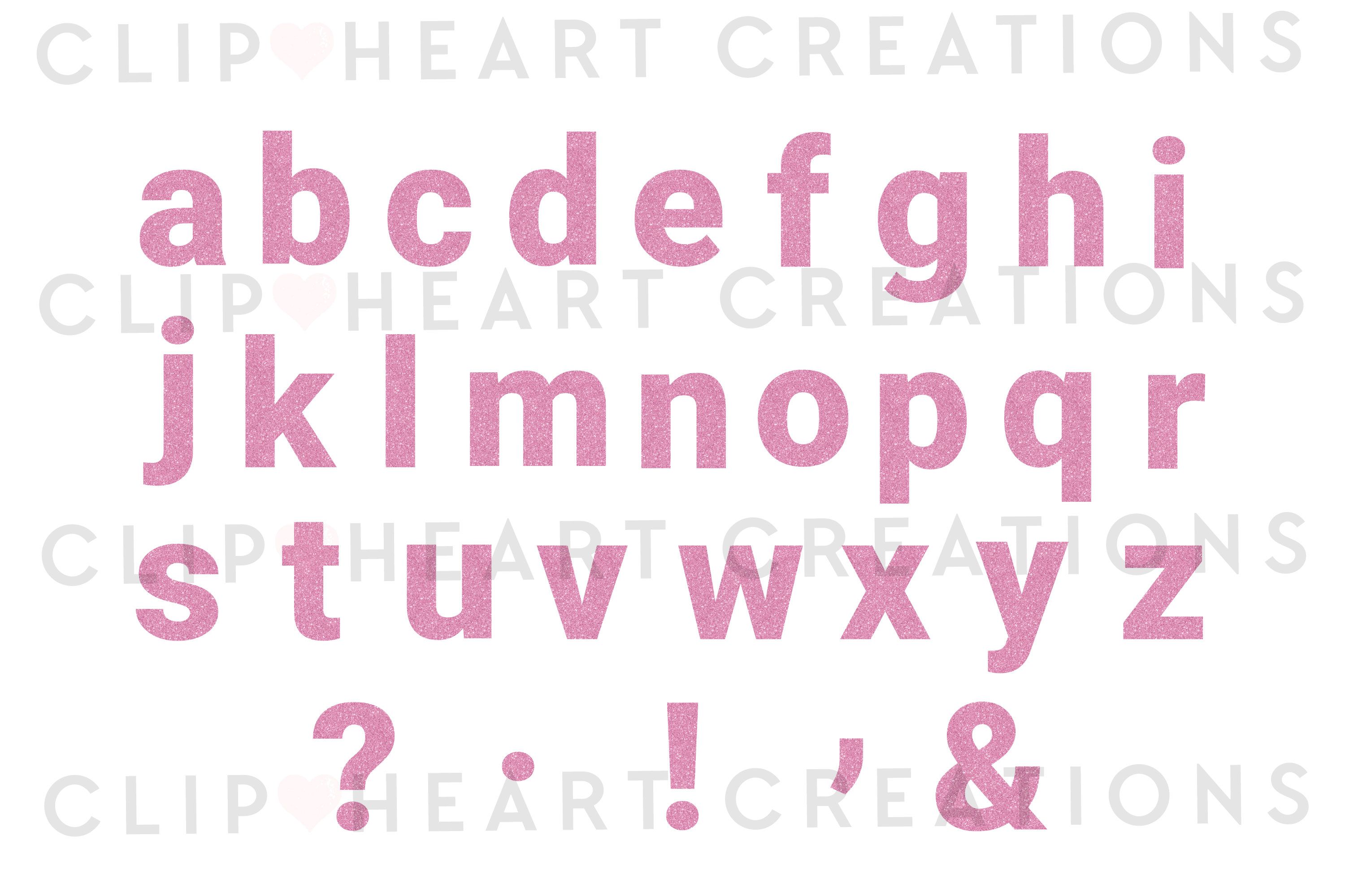 Pink Glitter Alphabet & Numbers with Symbols example image 3