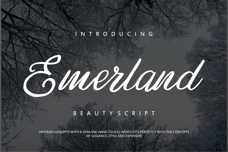Emerland   Beauty Script Handwritten example image 1