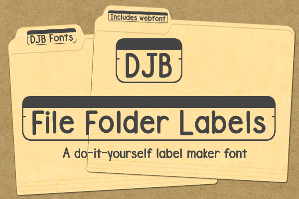 DJB File Folder Fonts example image 3