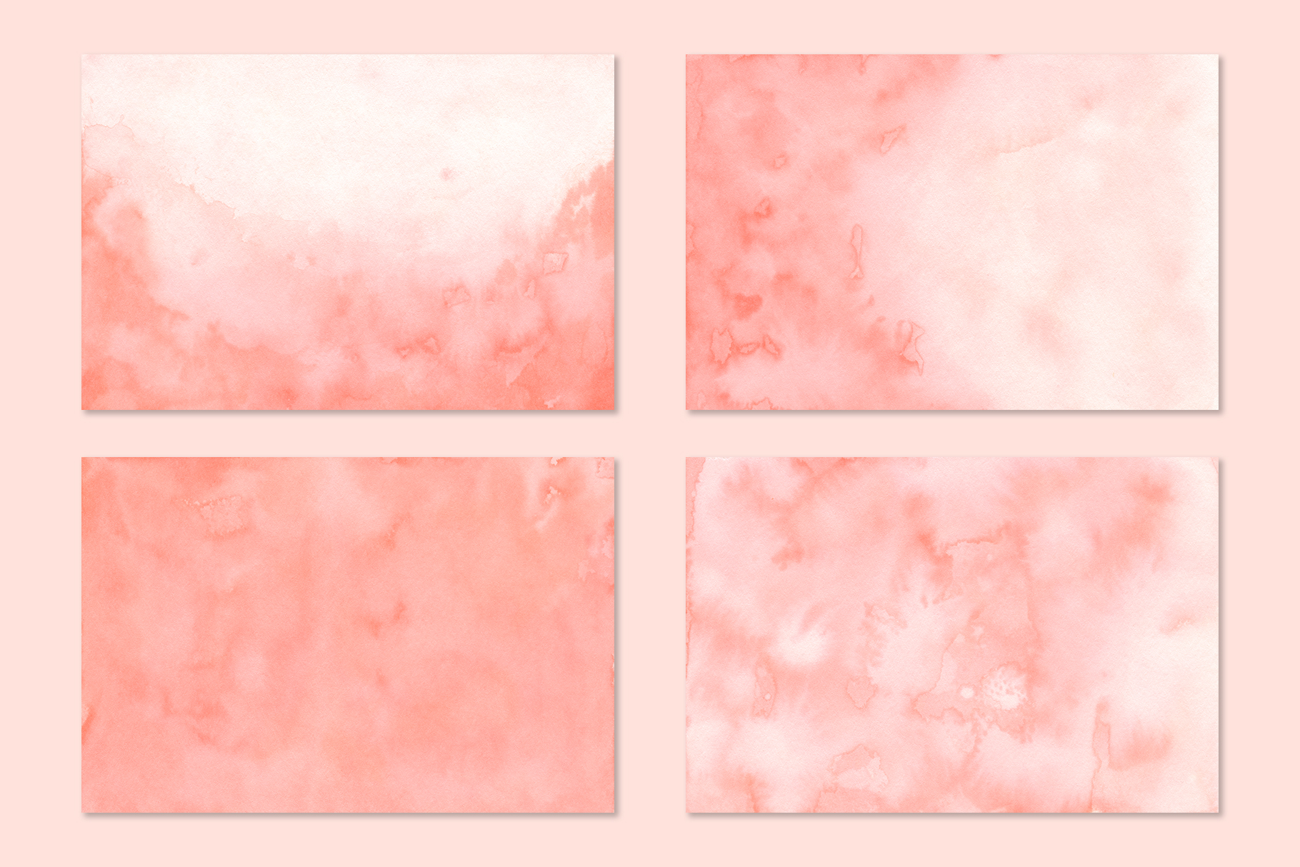 Coral Watercolor Backgrounds example image 2