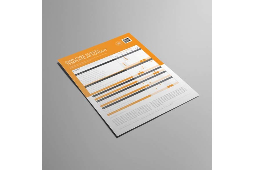 Employee Survey Template A4 Format example image 4