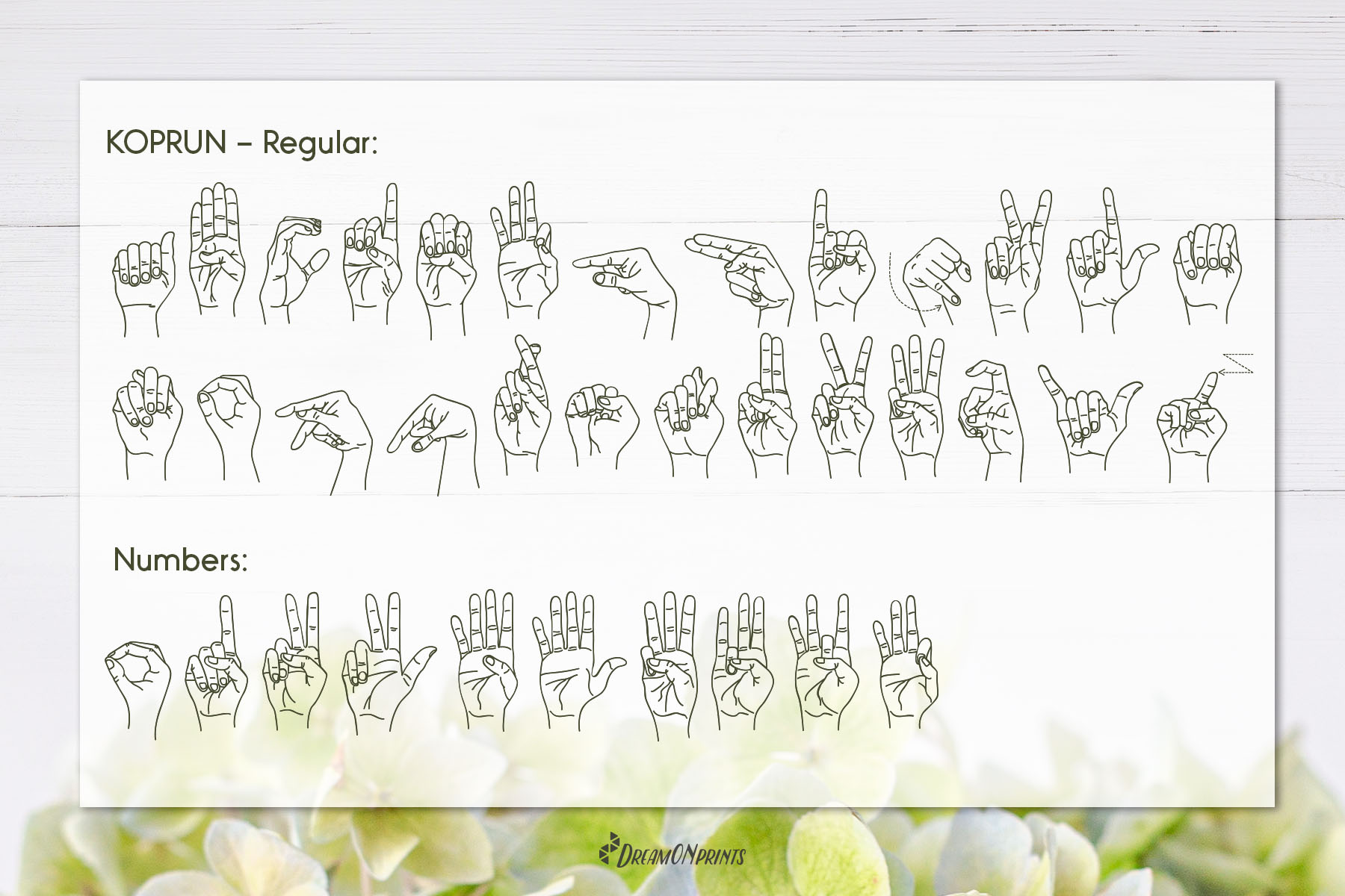 Koprun - American Sign Language Font example image 3