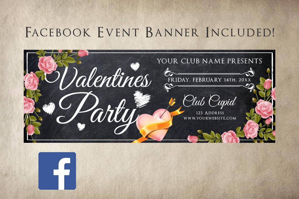 Chalk Valentines Flyer example image 3