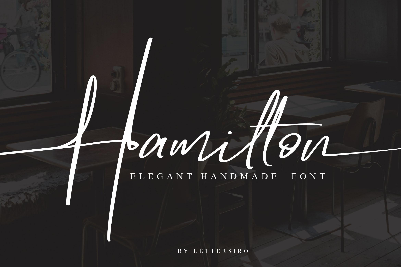 Hamilton - Elegant Signature example image 1