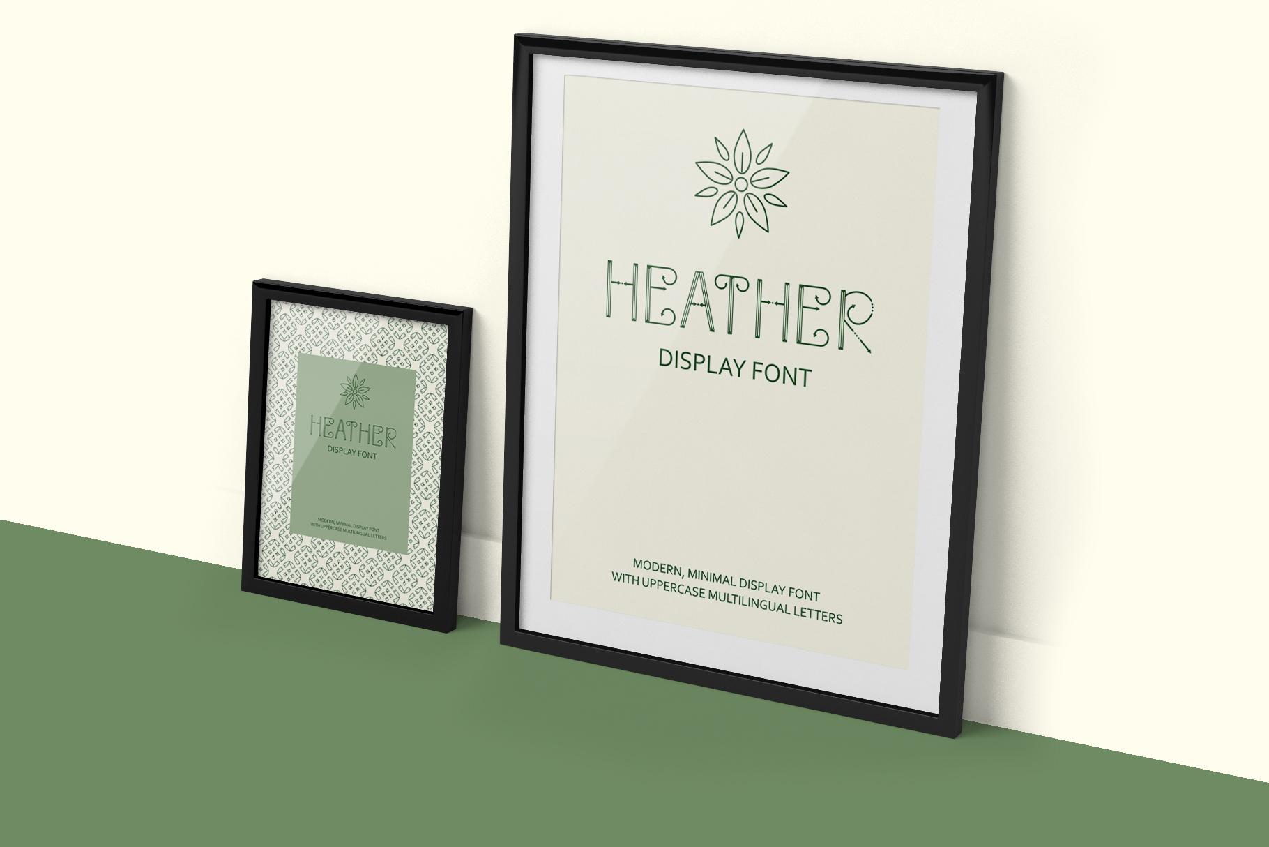 Heather - uppercase font example image 4