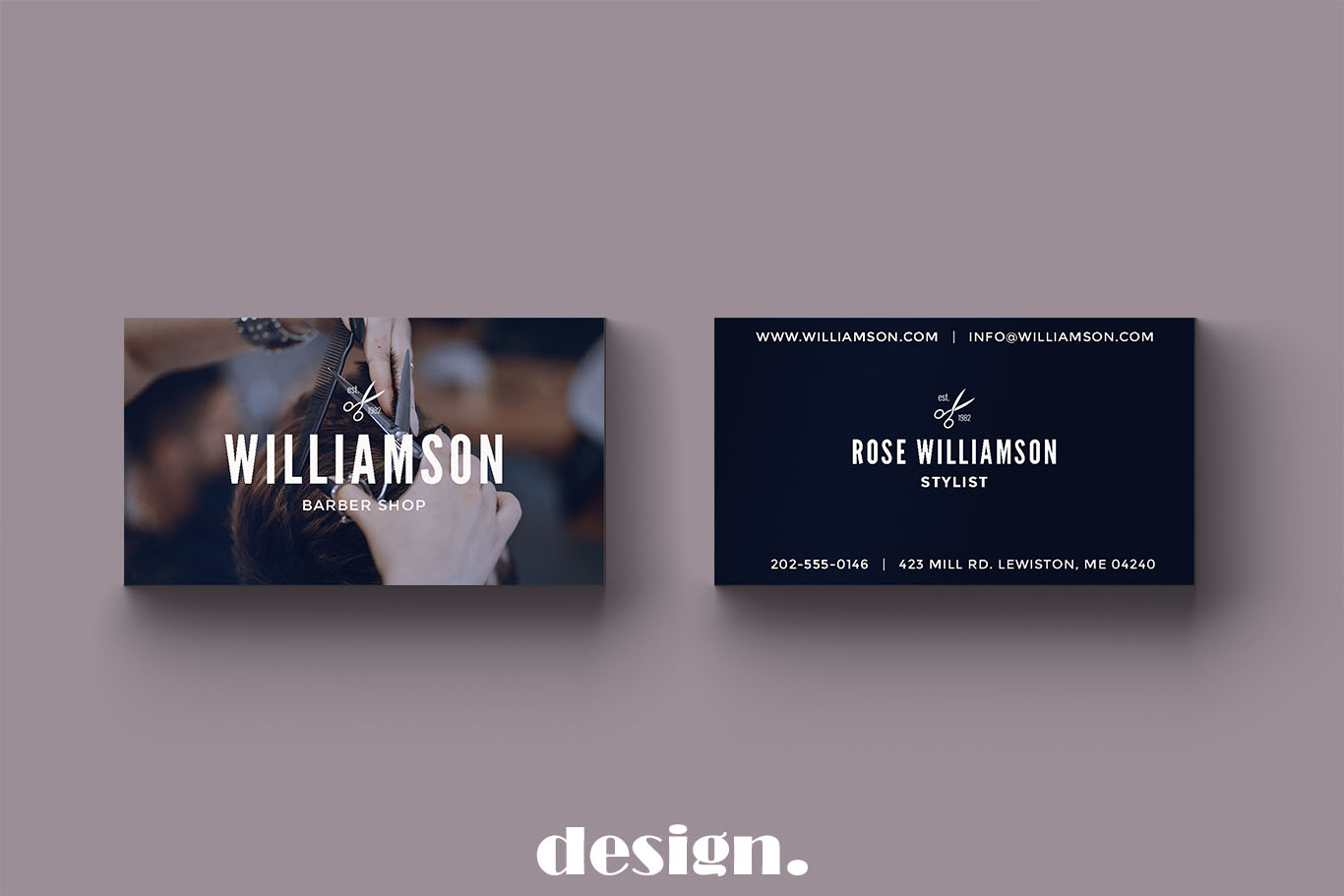 Barber Shop Business Card example image 3