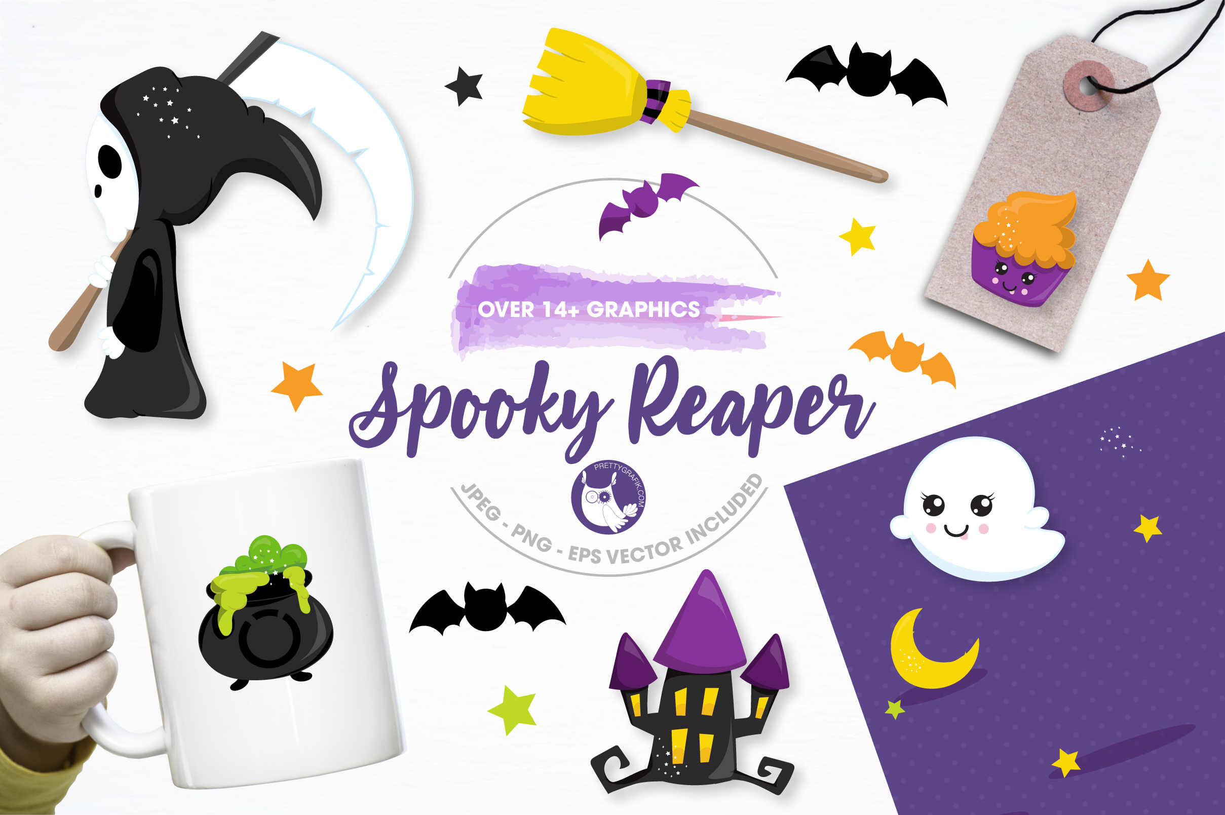 spooky reaper graphics and illustrations example image 1