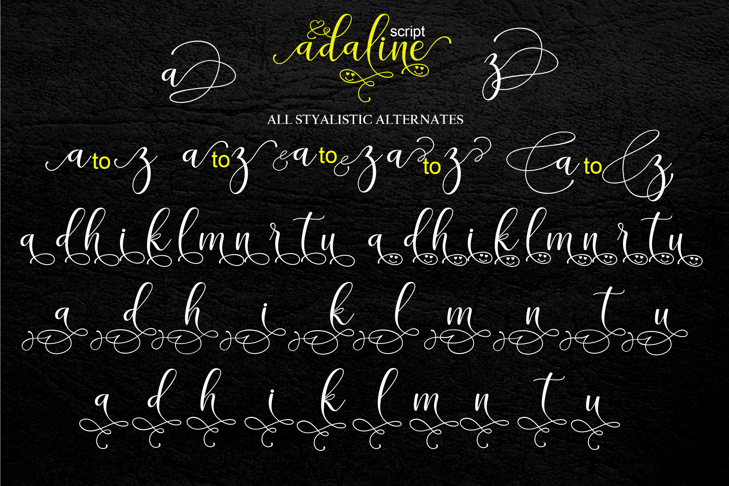 Adaline Script Font Family example image 10