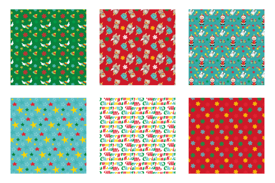 Christmas Magical Pattern collection, vector ai, example image 3