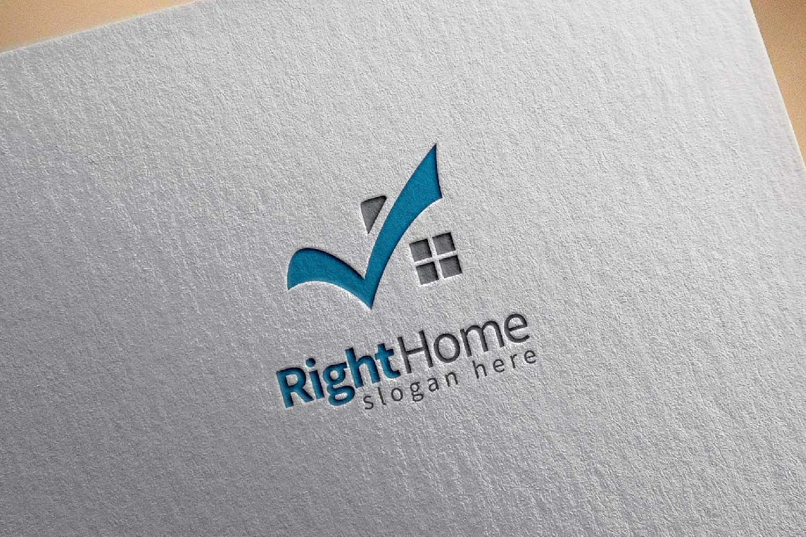 Real estate logo,check home, house logo example image 5