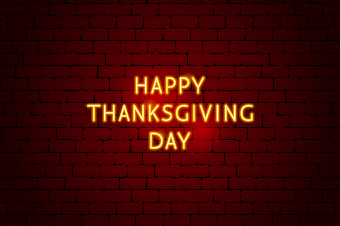 Thanksgiving Day Neon example image 7