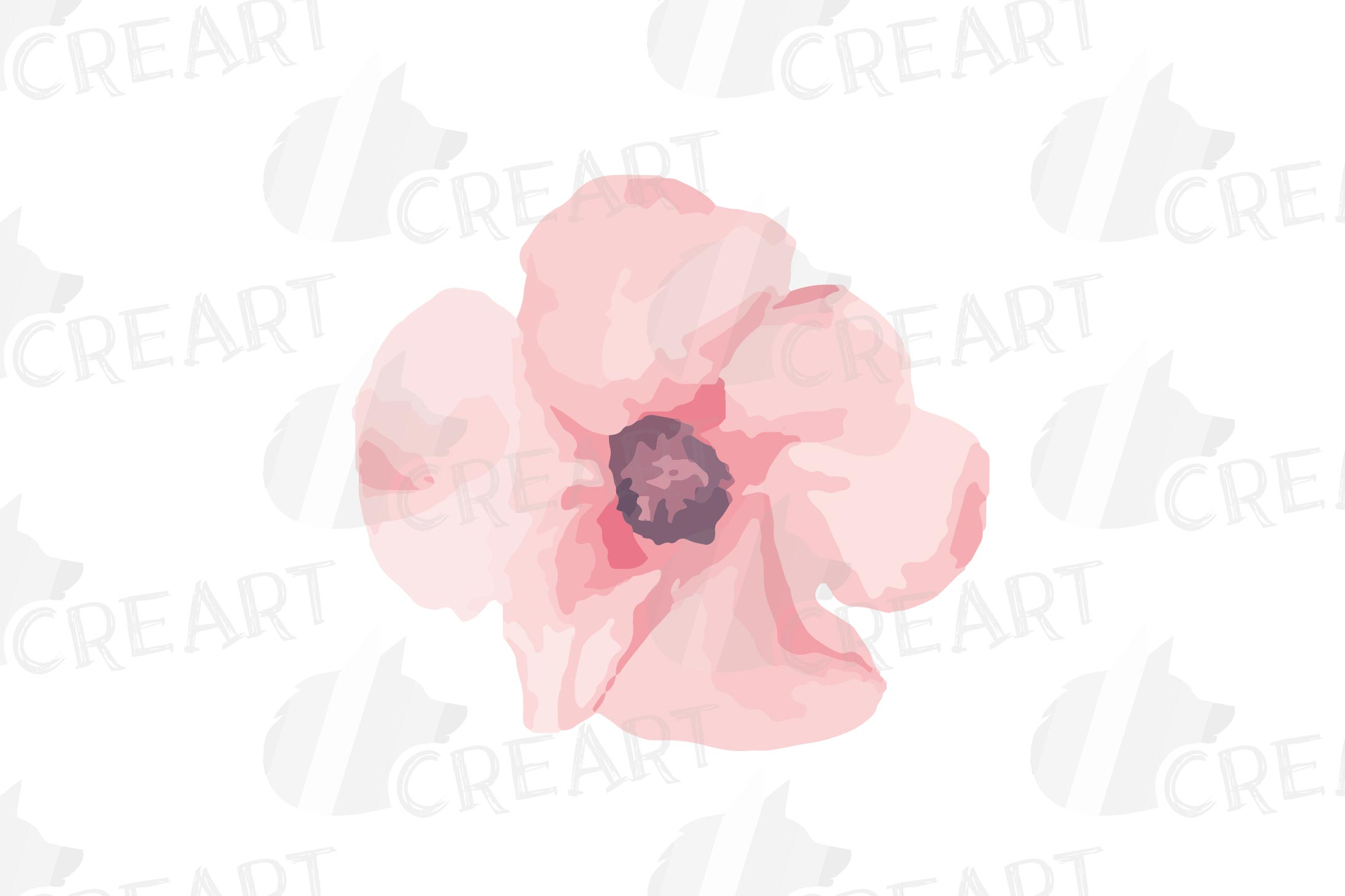 Blush watercolor floral wedding clip art, pink flowers leafs example image 12