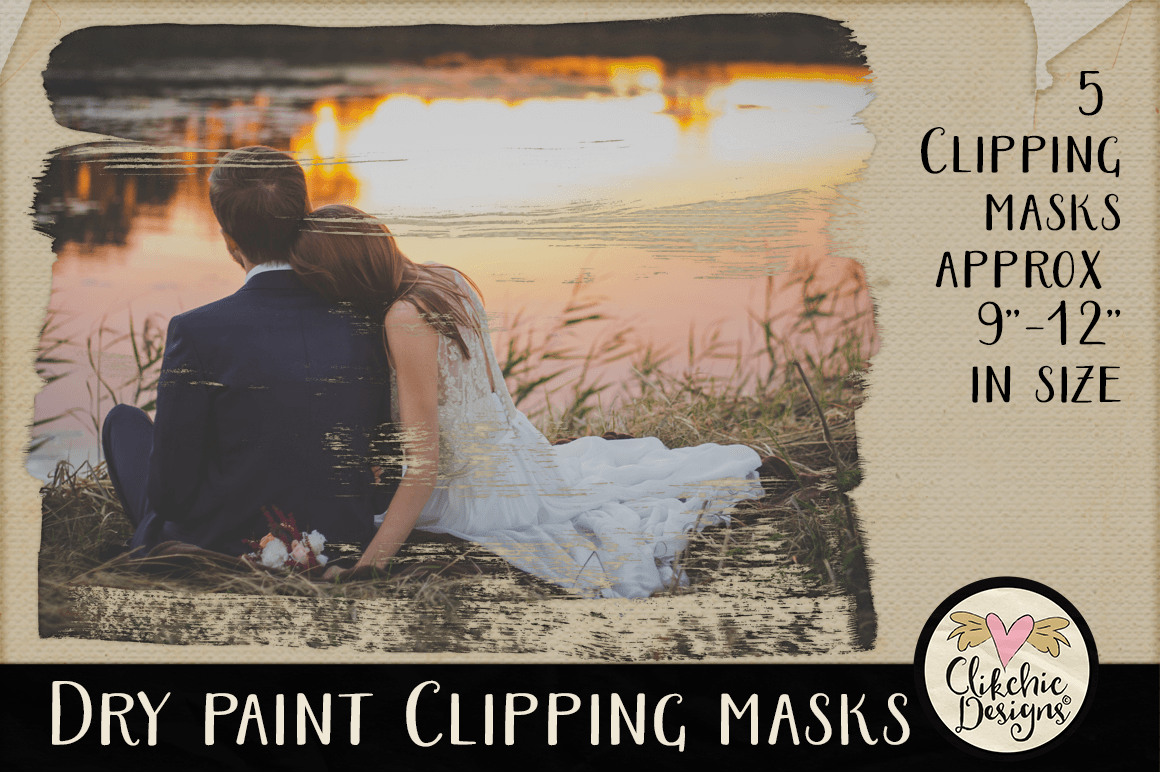 Dry Paint Photoshop Clipping Masks & Tutorial example image 3