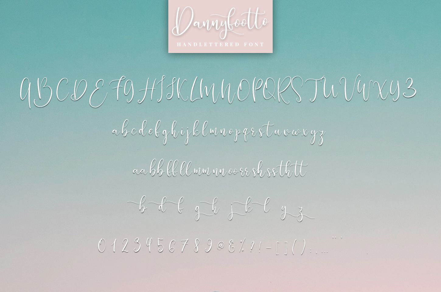 Dannyfootto///handlettered font example image 6