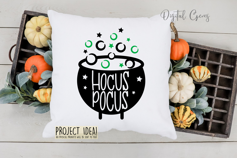 Cauldron, Hocus pocus Halloween SVG / PNG / EPS / DXF files example image 4