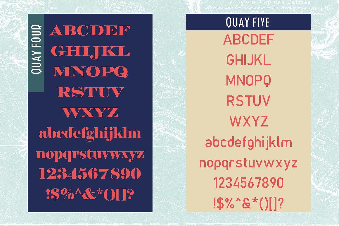 Quay Font Bundle & Bonus Logos example image 7