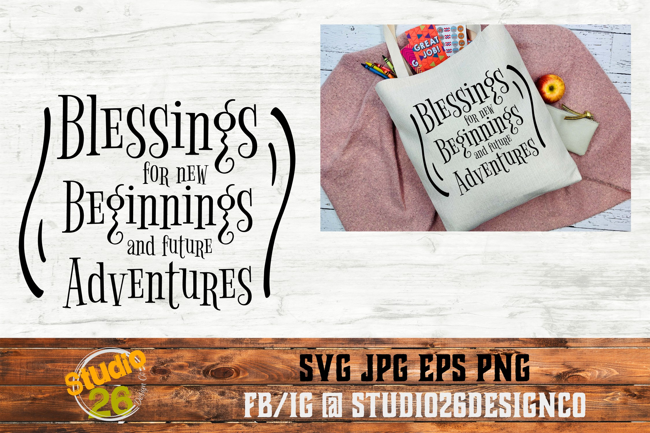 Blessings for new beginnings - SVG EPS PNG example image 2