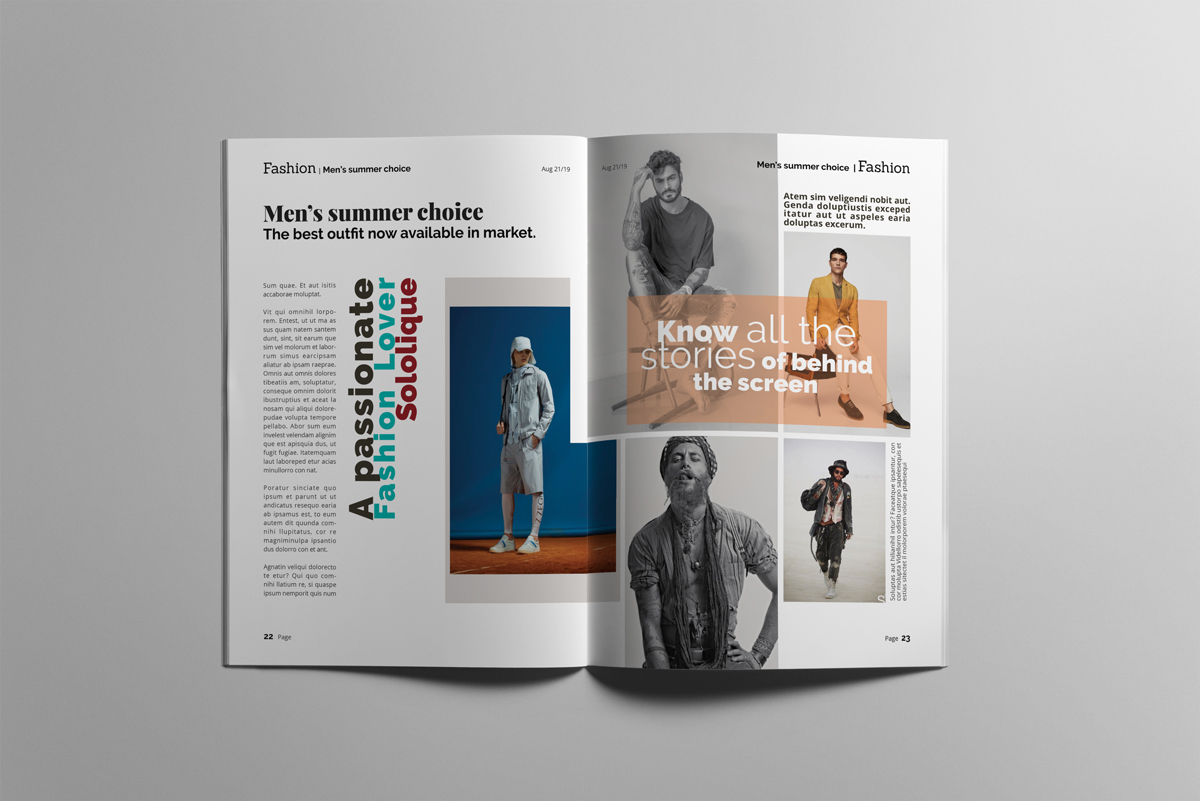 Magazine layout design example image 12