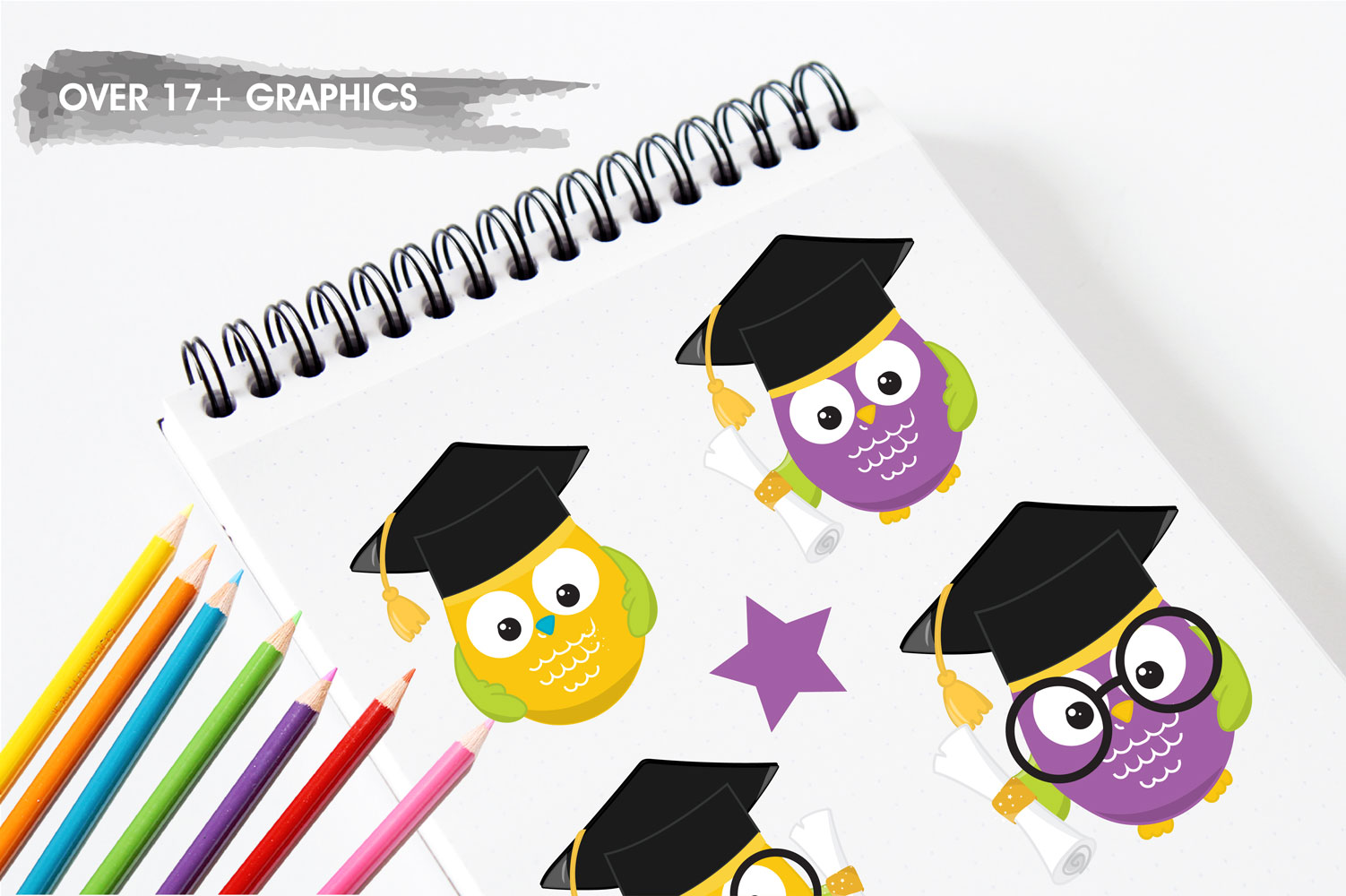 Graduation Owls Cute Graphics example image 3
