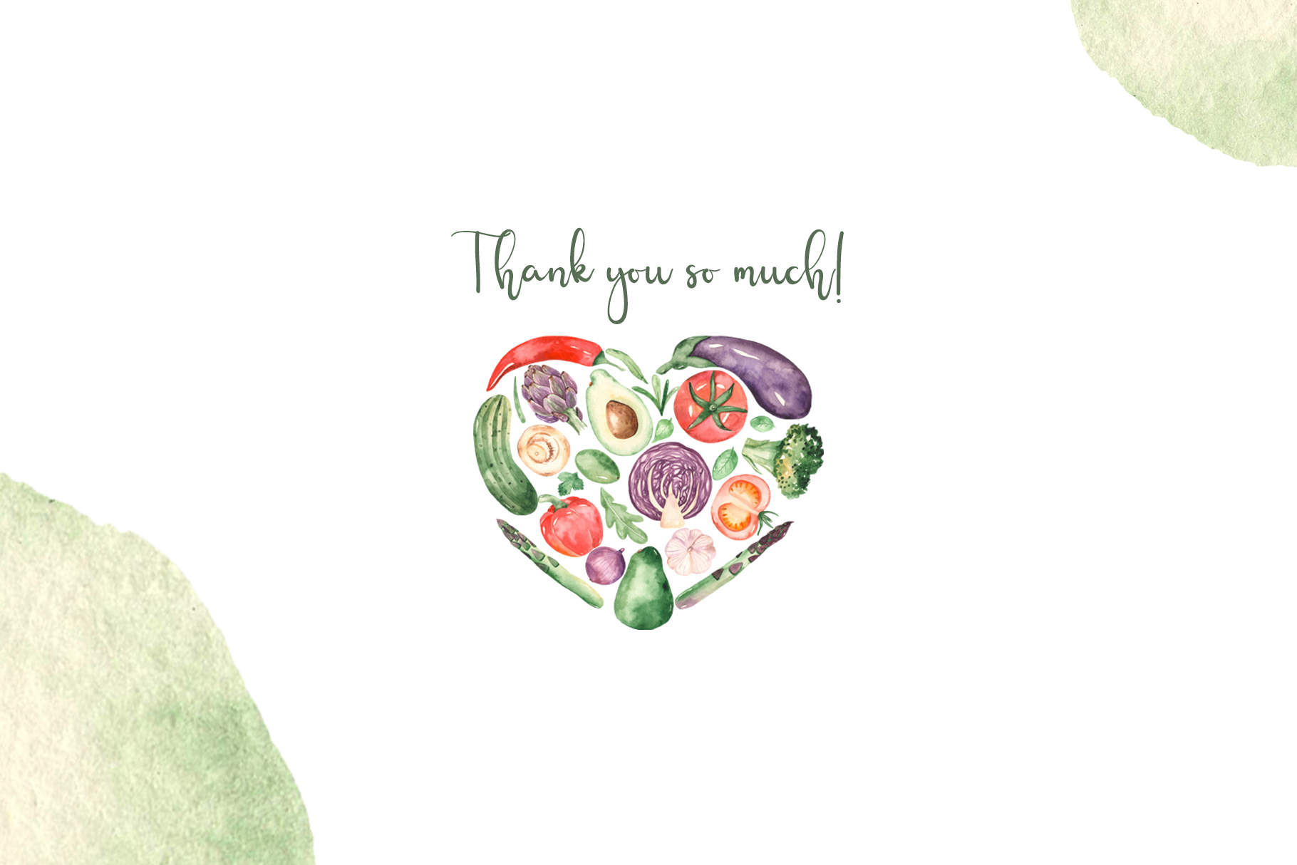 Vegetables and herbs Watercolor collection Clipart example image 12