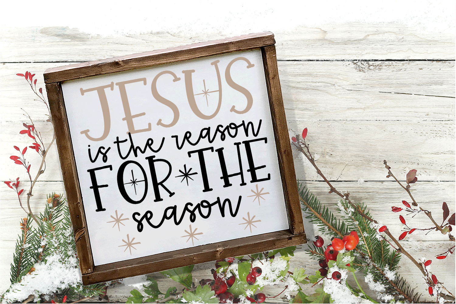Christmas Svg - Jesus Is The Reason for the Season example image 2