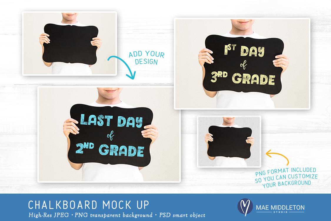 Kid's Chalkboard Mock up - milestone example image 2