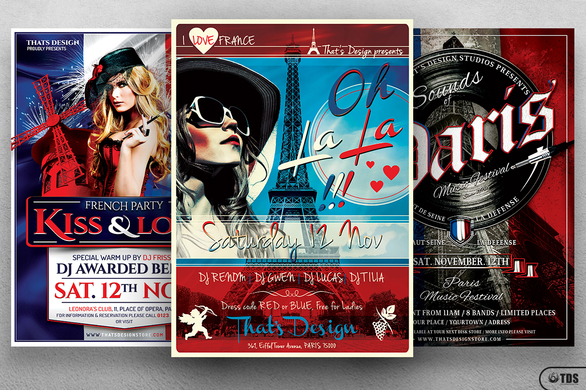 French Party Flyer Bundle example image 3