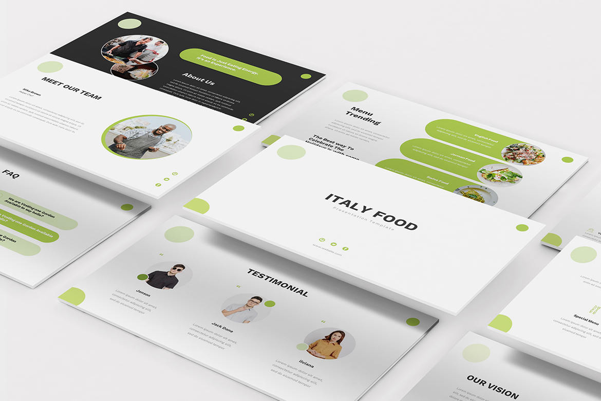 Food Keynote Presentation Template example image 1
