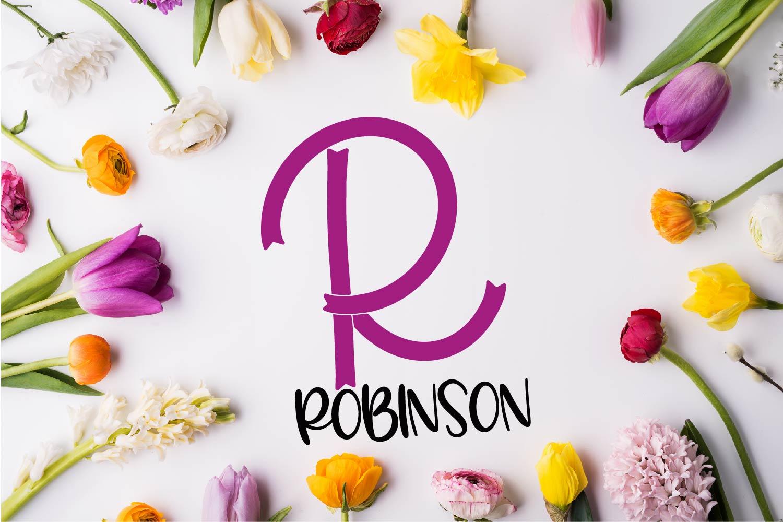 Brave - A Ribbon Monogram Font example image 6
