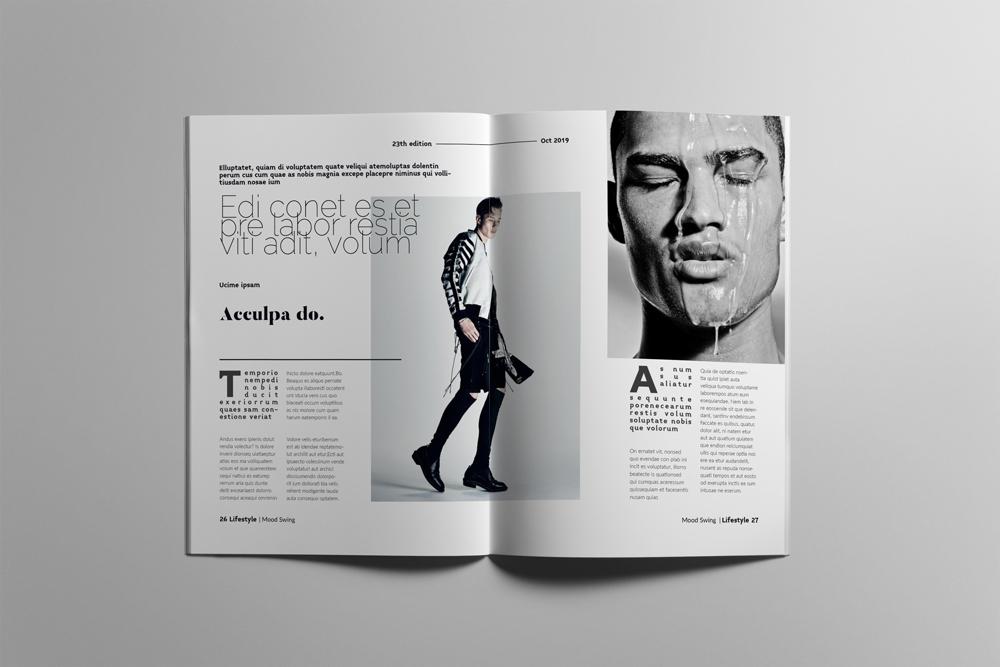 Fashion Magazine Layout Template example image 14