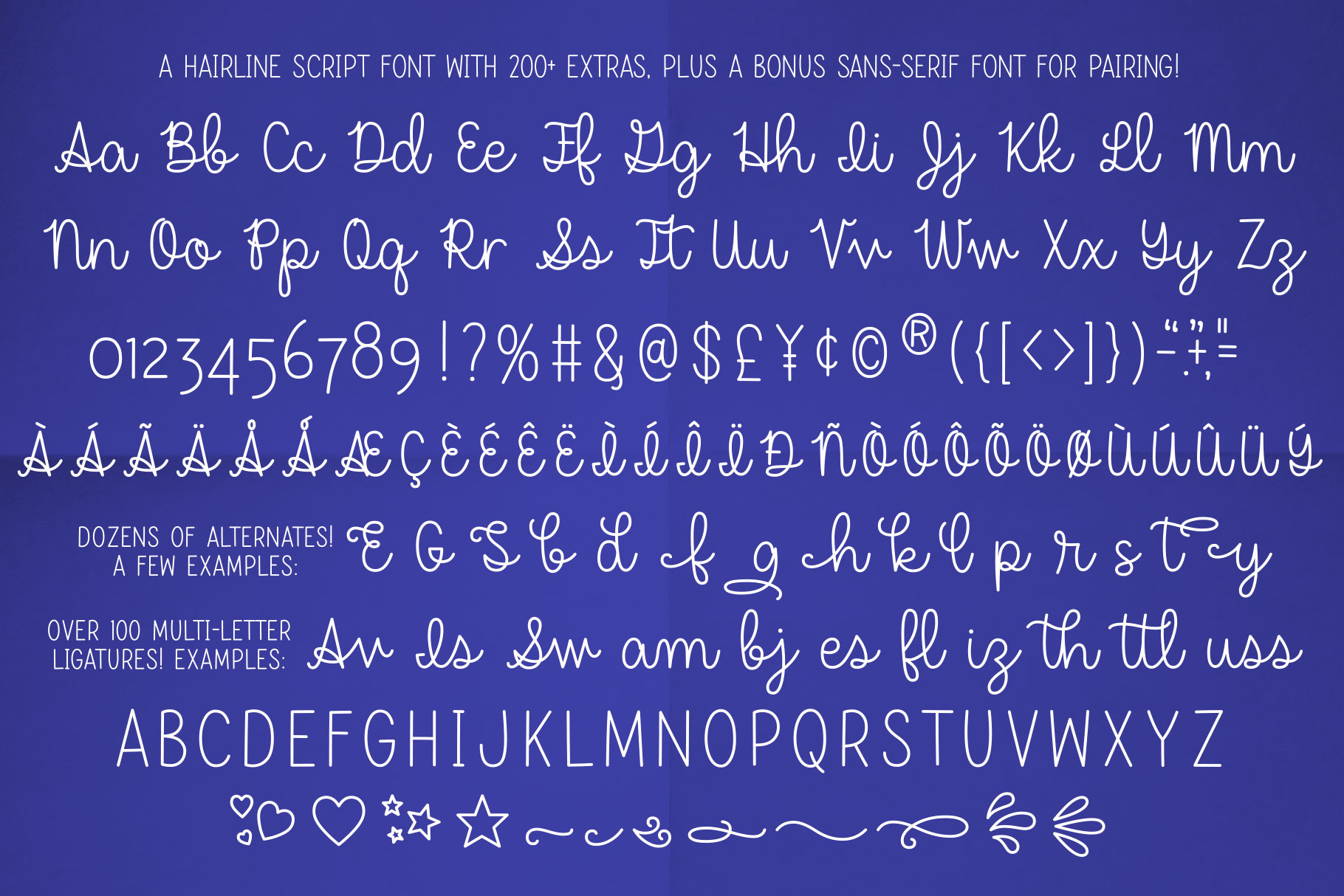 Dear Agatha - a single-line hairline pen & quill font duo! example image 2