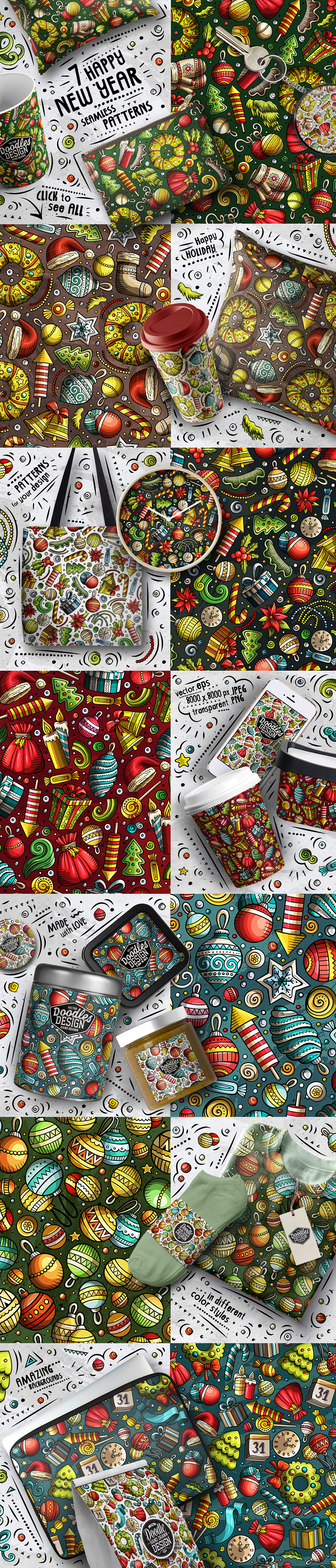 Happy New Year Doodle Big Pack example image 3