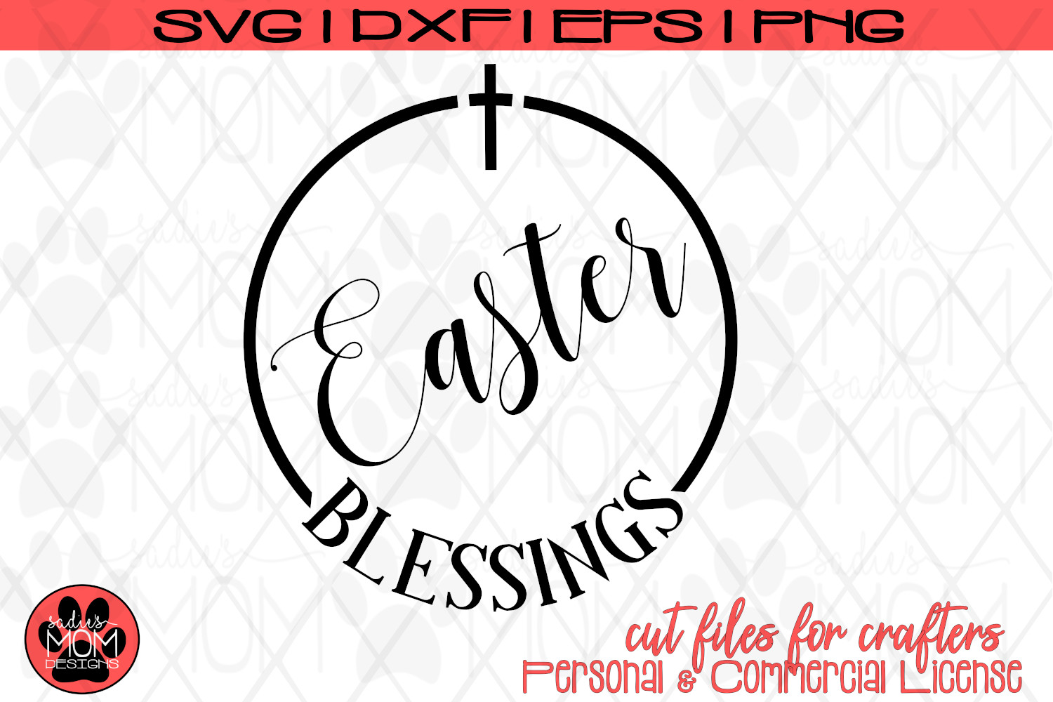 Easter Blessings | Christian SVG Cut File example image 2