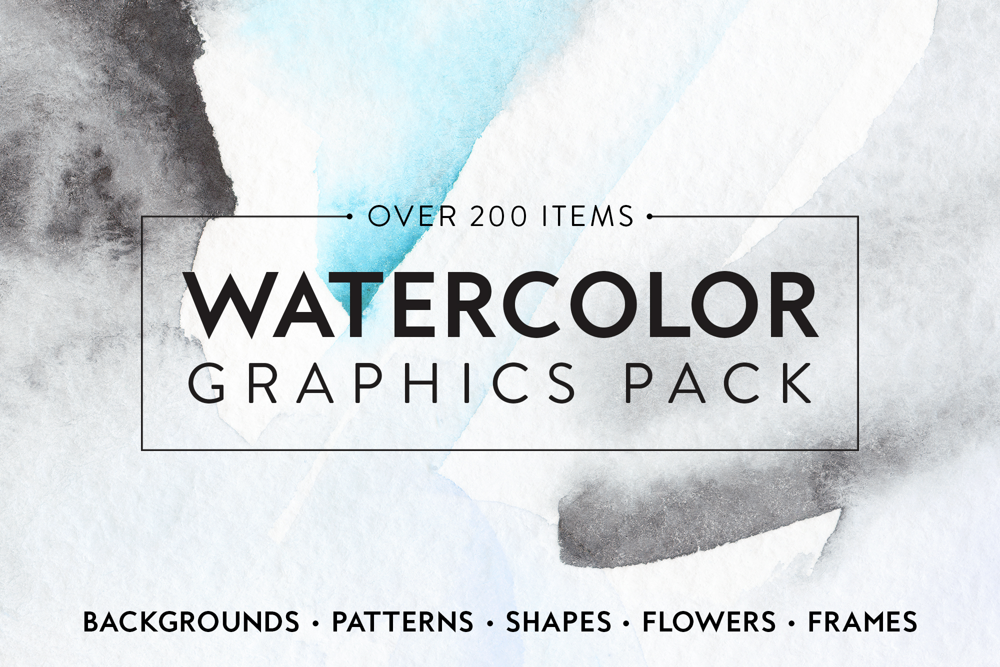 Watercolor Graphics Bundle example image 1