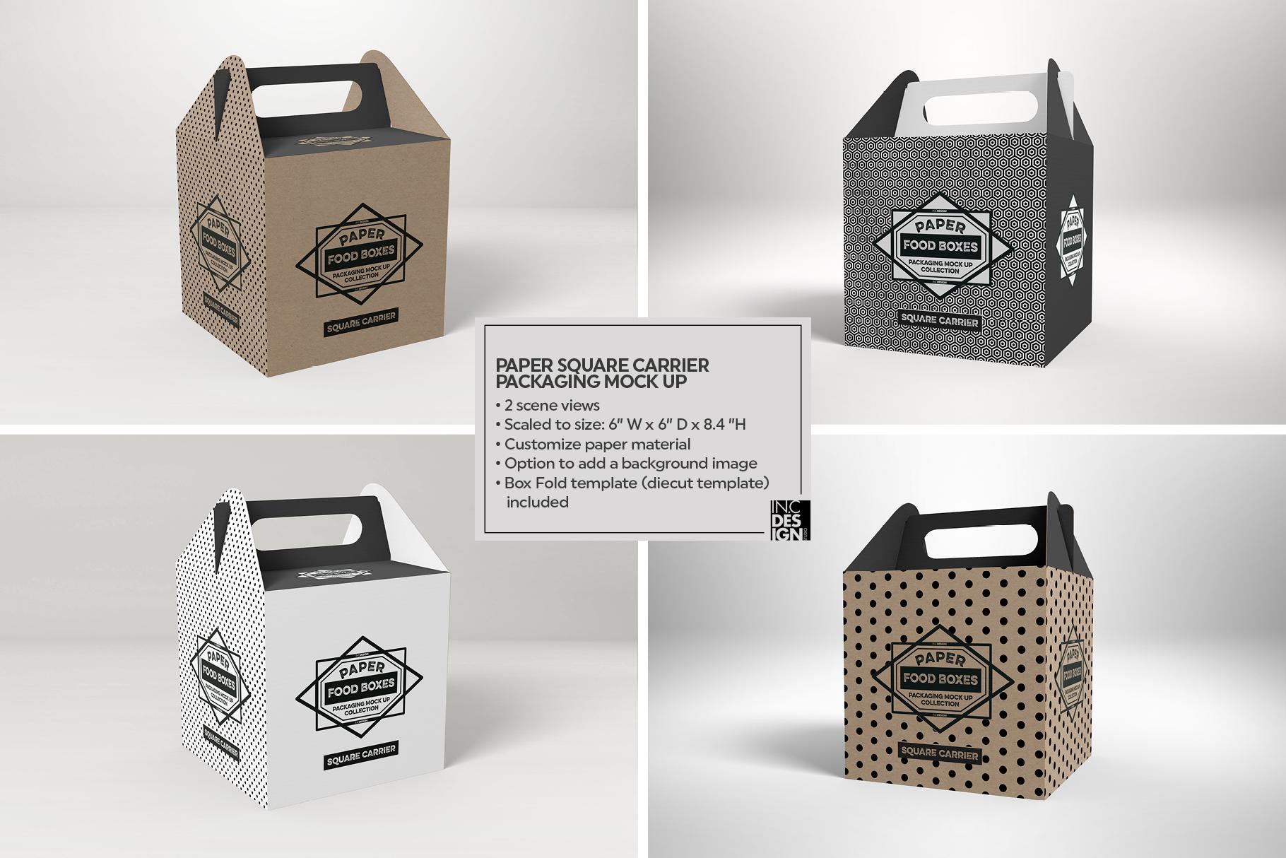 VOL.1 Food Box Packaging MockUps example image 6
