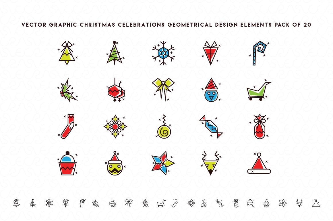 Christmas & New Year Bundle of Ornamental Mockups & Graphics example image 5