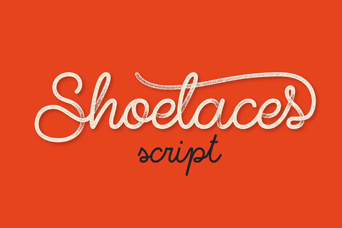 Shoelaces font example image 1