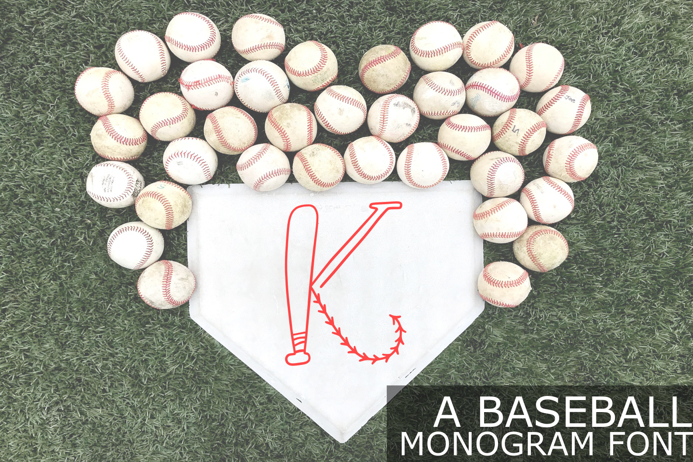 Baseball Monogram Font example image 1