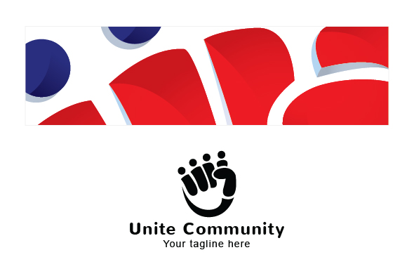Unity Community - Collaborate Group Stock Logo Template example image 3