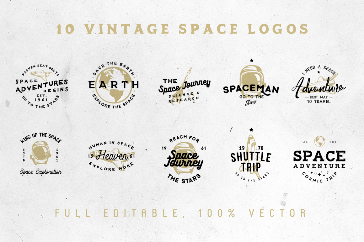 Space Vintage Logos example image 6