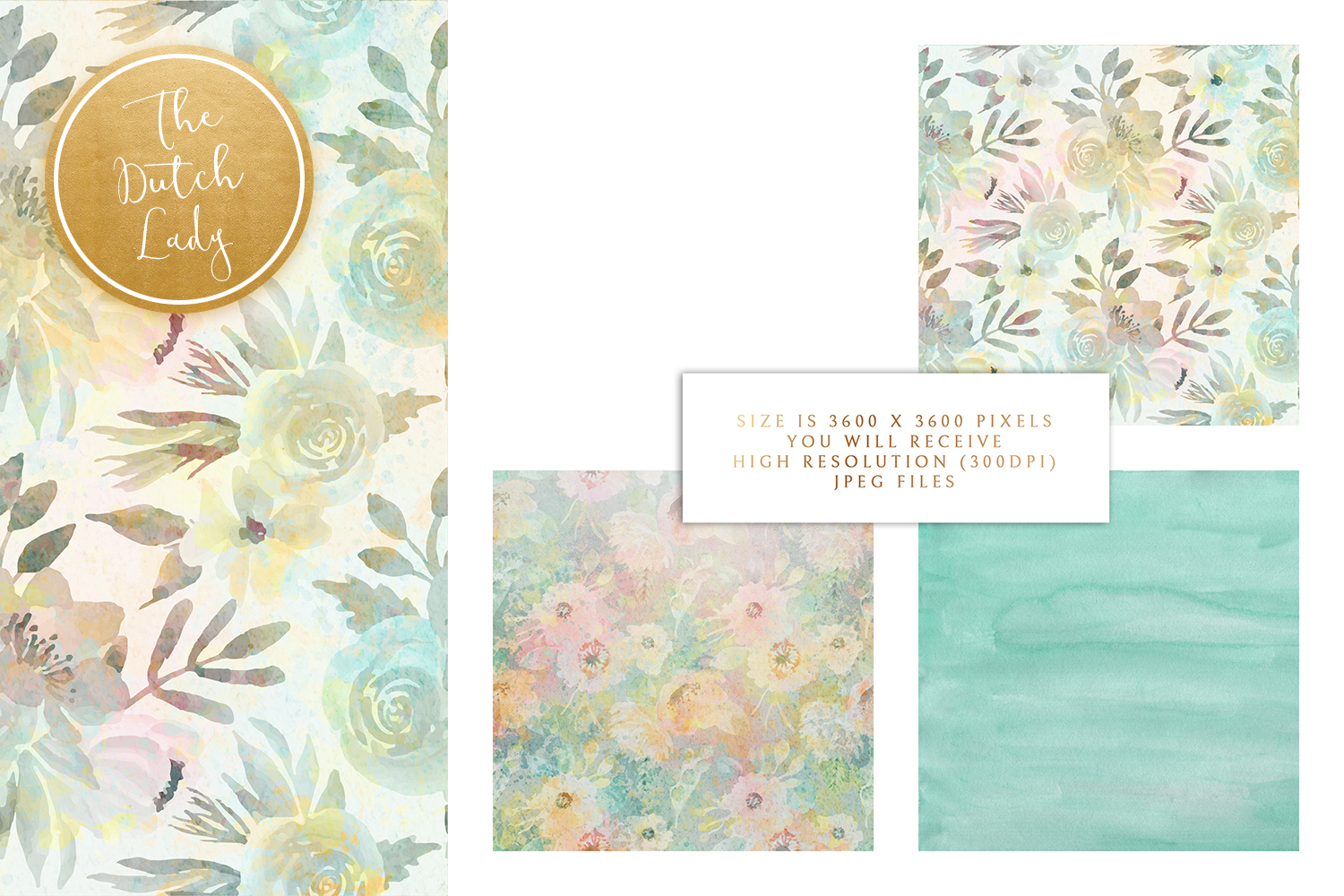 Floral Backgrounds & Paper Designs - Michelle example image 3