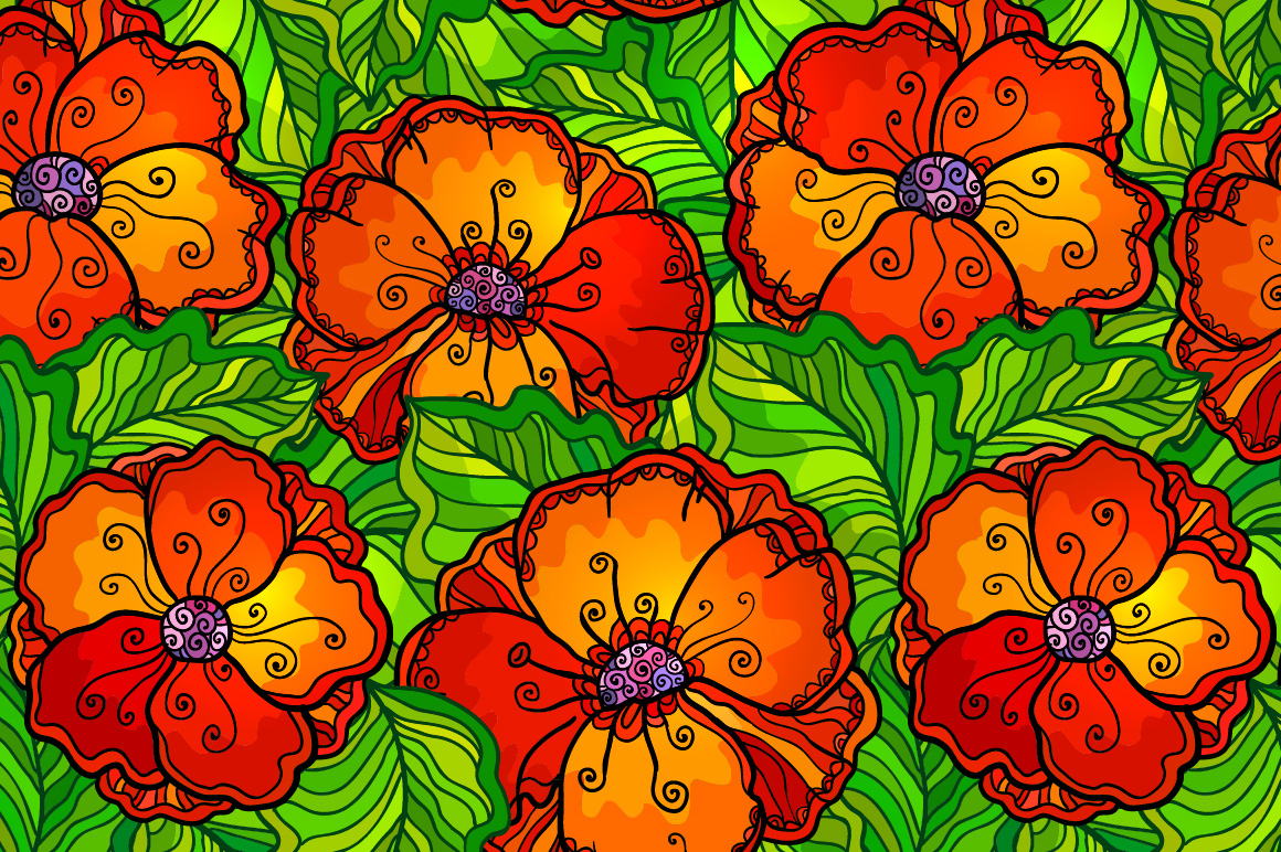 8 red poppy flowers backgrounds example image 2