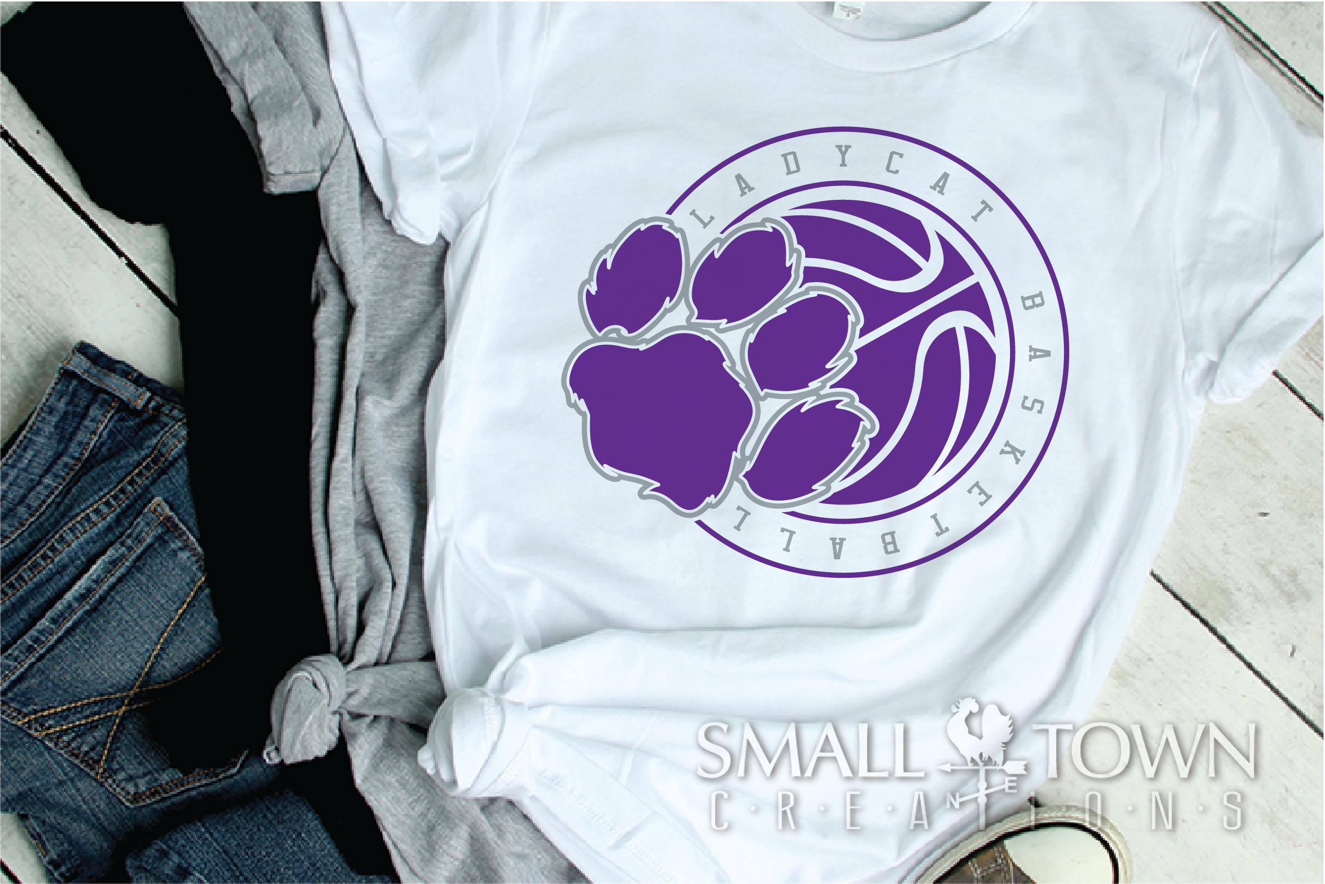 Ladycat, Basketball, Team, Sport, Design, PRINT, CUT, DESIGN example image 2