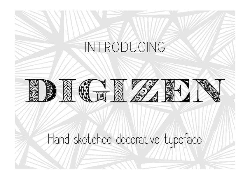 Digizen Font example image 2