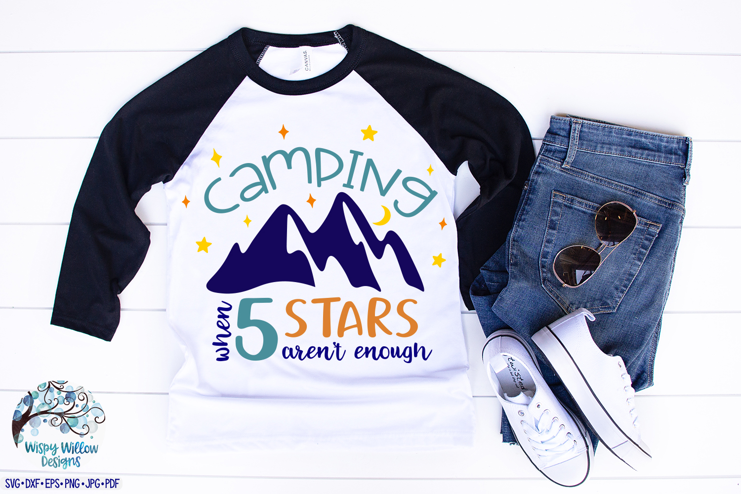 Camping When 5 Stars Aren't Enough | Camping SVG Cut File example image 2