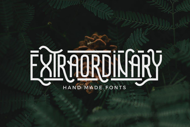 Extraordinary - Handmade Font example image 1
