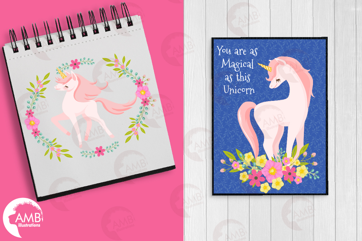Magical Unicorns cliparts AMB-2195 example image 5