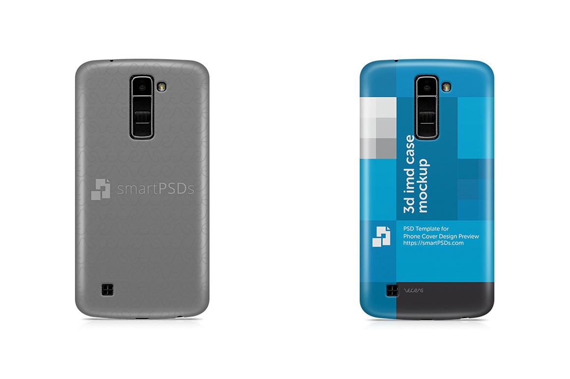LG K10 3d IMD Mobile Case Design Mockup 2016 example image 1