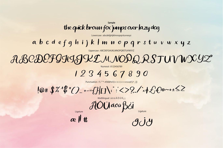 Comye   Script Typeface Font example image 6