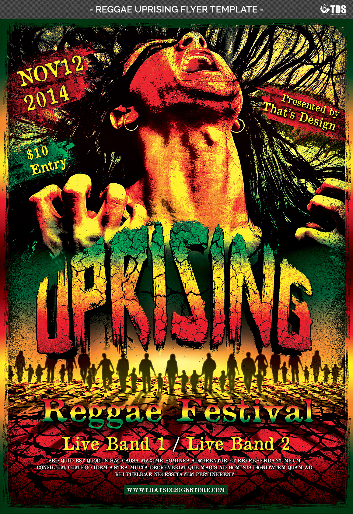 Reggae Uprising Flyer Template example image 4